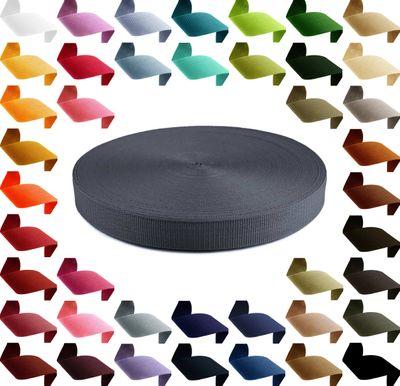 12m stabiles PP Gurtband 30mm Polypropylen Stärke 1,3 mm, 43 Farben wählbar  – Bild 6