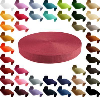 50m hochwertiges Polypropylen PP Gurtband, 25mm breit, 1,3mm stark, Farbwahl – Bild 21