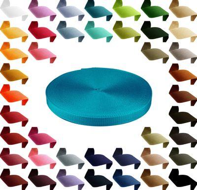 50m hochwertiges Polypropylen PP Gurtband, 25mm breit, 1,3mm stark, Farbwahl – Bild 22