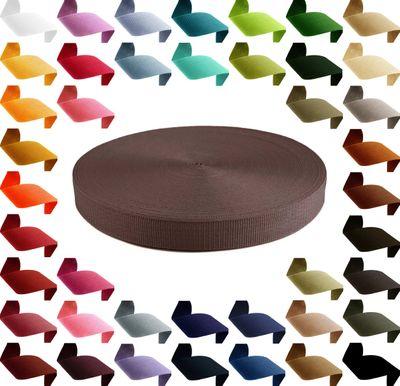 12m Polypropylen PP Gurtband 25mm, Gurt 1,3mm stark, Farbwahl – Bild 3