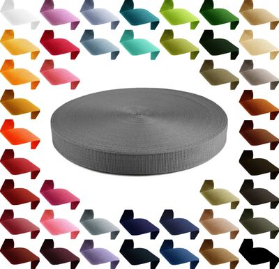 12m Polypropylen PP Gurtband 25mm, Gurt 1,3mm stark, Farbwahl – Bild 4