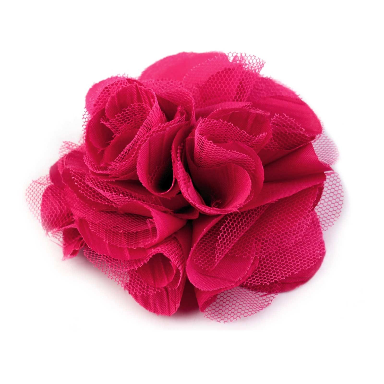Krokodilspange Rose bordeaux //pink   Neu Haarspange mit Blüte