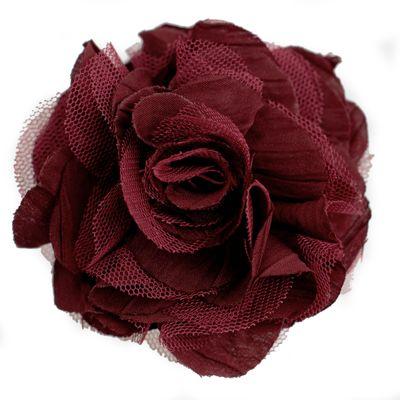 Textilblüte Rose Ø9cm Ansteck-Blüte Spange Haarspange Sicherheitsnadel Brosche  – Bild 5