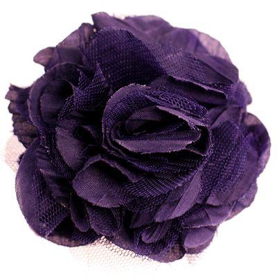 Textilblüte Rose Ø9cm Ansteck-Blüte Spange Haarspange Sicherheitsnadel Brosche  – Bild 12