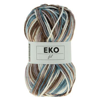 50g Strickgarn EKO FIL COLOR Strick-Wolle Handstrickgarn multicolor, Farbwahl – Bild 4