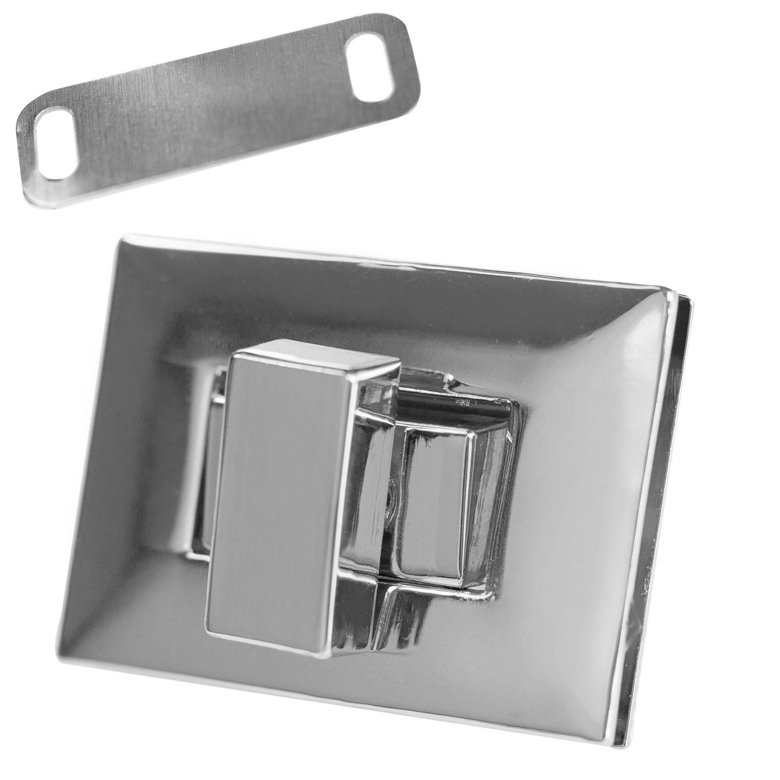 Farbe:Silber maDDma 5 Mappen-Verschl/üsse Steck-Schloss Dreh-Schloss Verschluss Taschenschloss Mappen