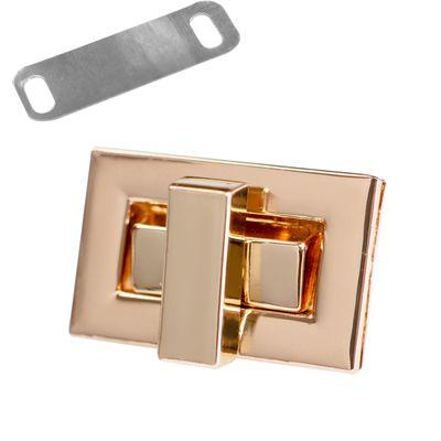 1 Set Metall Mappenverschluss Steck Dreh Verschluss Schloss, Größen Farbwahl – Bild 9