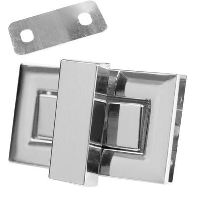 1 Set Metall Mappenverschluss Steck Dreh Verschluss Schloss, Größen Farbwahl – Bild 2