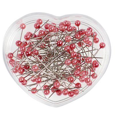 100 Perlkopfnadeln 40mm Herzdose Stecknadeln Polsternadeln Perlennadeln Farbwahl – Bild 10