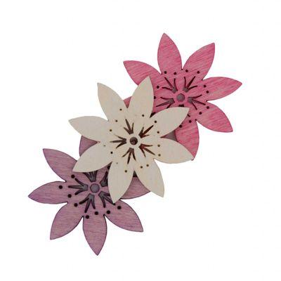24 Holz-Deko Streudeko Schmetterling Vogel Blume Blüte, 20mm, Farbmix, Motivwahl – Bild 8