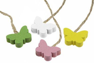 16 Deko-Hänger Holz-Anhänger, Schmetterling, 18x23mm, Farbwahl Farbmix – Bild 6