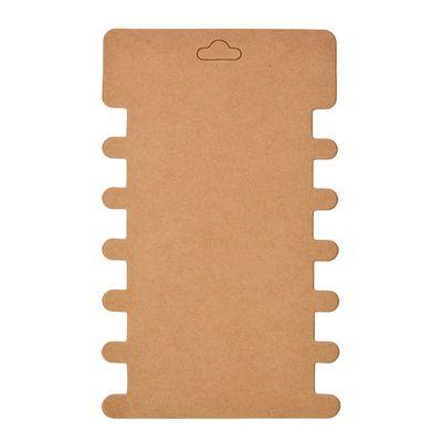 10 stabile Wickelkarten Pappkarten mit Ausschnitten Rillen, 8,6x14,4cm, braun – Bild 1