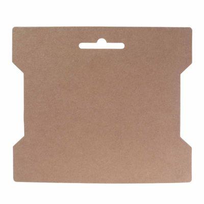 50 stabile Wickelkarten Papierkarte 14x16,3cm, natur braun  – Bild 1