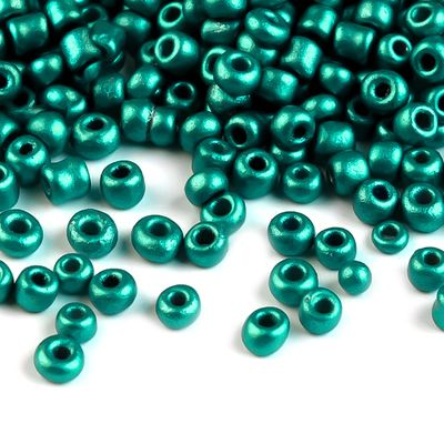 50g Rocailles Glasperlen 12/0 2mm, verschiedene Farben Farbwahl – Bild 9