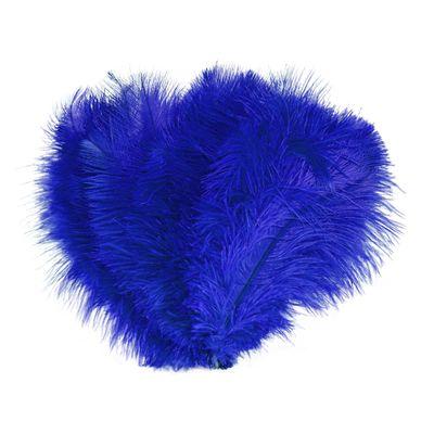 10 schöne Straußenfedern Kostümzubehör 20-25cm Farbwahl, Federn Bastelfedern – Bild 12