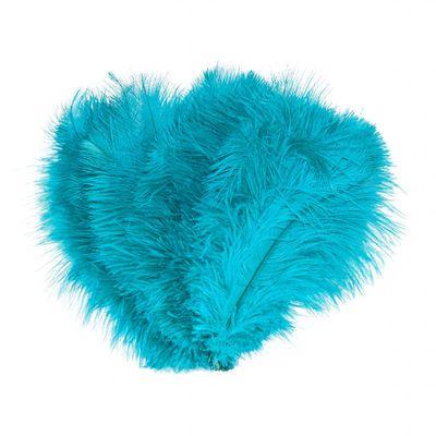 10 schöne Straußenfedern Kostümzubehör 20-25cm Farbwahl, Federn Bastelfedern – Bild 15