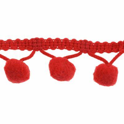 3m Bommelborte, 20mm breit Pomponborte Bommelband Pompon Band, Farbwahl – Bild 25