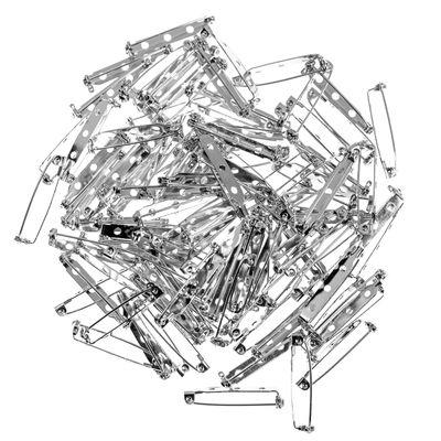 100 Anstecknadeln Broschennadeln Sicherheitssnadeln, 26,5-33mm, Farben- Größenwahl – Bild 4