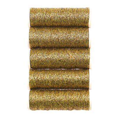 300m / 5 Spulen Metallgarn Faden Glanz Glitzer Effekt Applikation, Farbwahl – Bild 4