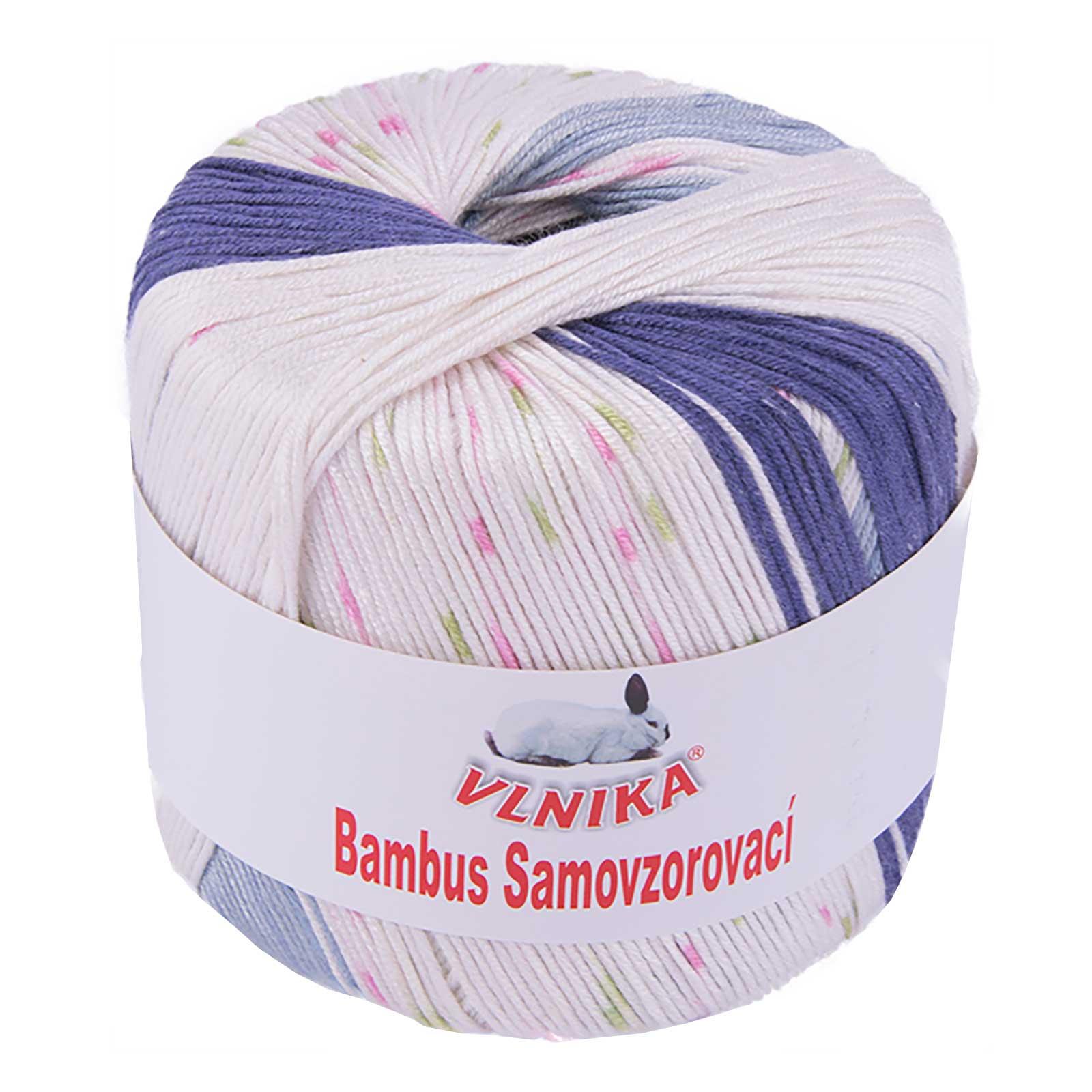 4,58€//100 verschieden Farben 50g Strickgarn Bambus multi Häkelgarn Strickwolle