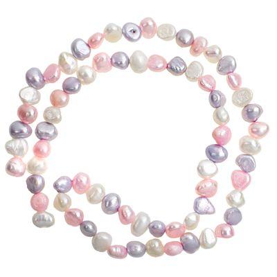 1 Strang / 72 Perlen, 6~7x6x5mm Sußwasserpelen Perlenstrang Zuchtperlen Farbwahl – Bild 5