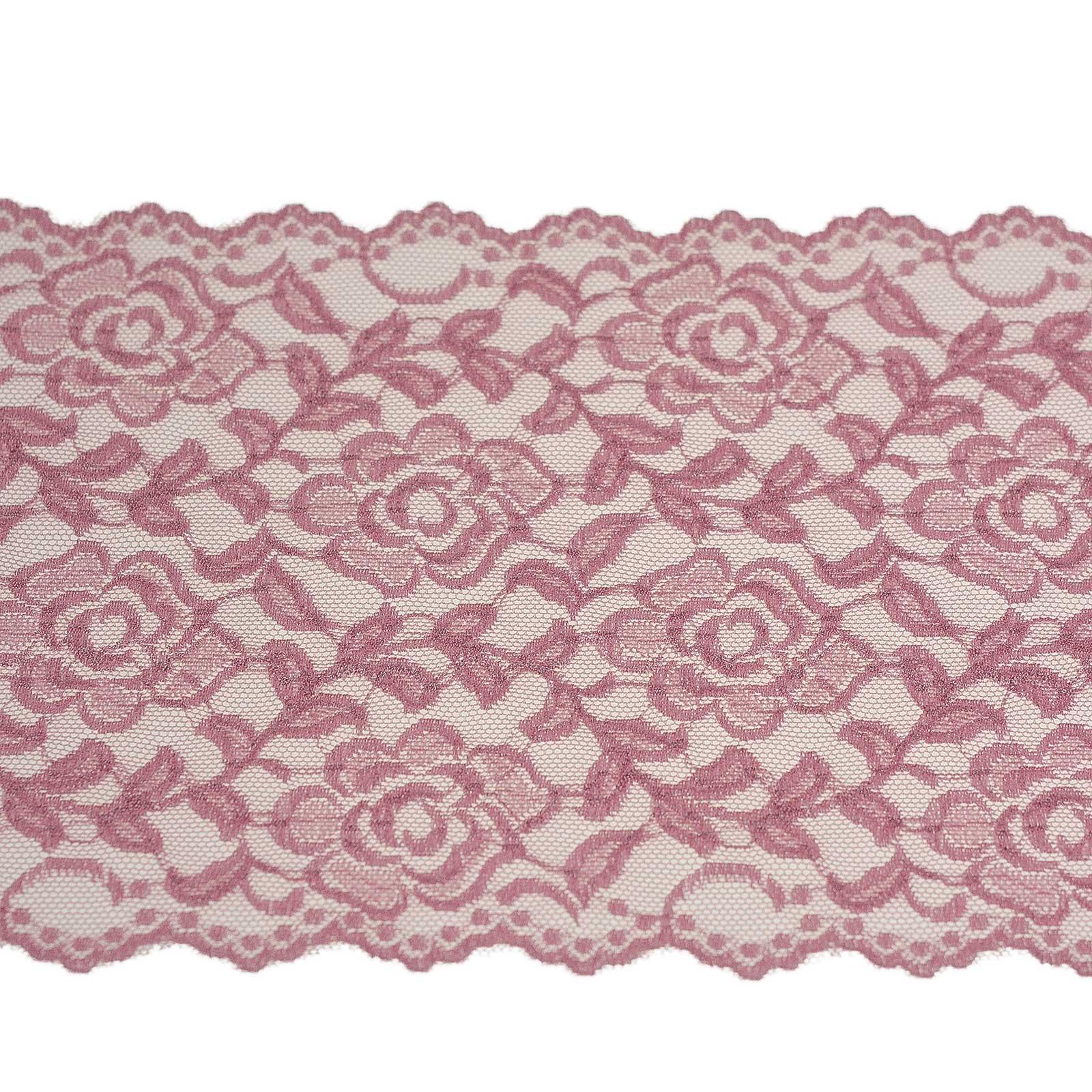 0,5m elastische Spitze 16cm Spitzenborte Besatz Tischläufer Tischband Farbwahl – Bild 22