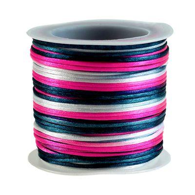 30m Satin Schnur Kordel Kumihimo, 1mm, Farbwahl multicolor mehrfarbig – Bild 6