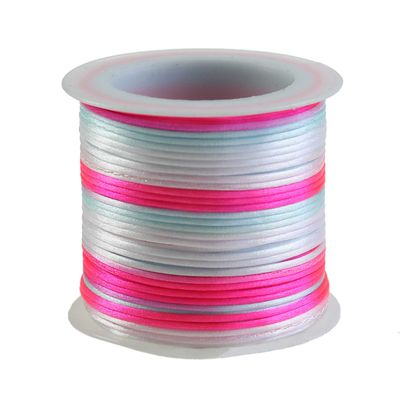 30m Satin Schnur Kordel Kumihimo, 1mm, Farbwahl multicolor mehrfarbig – Bild 8