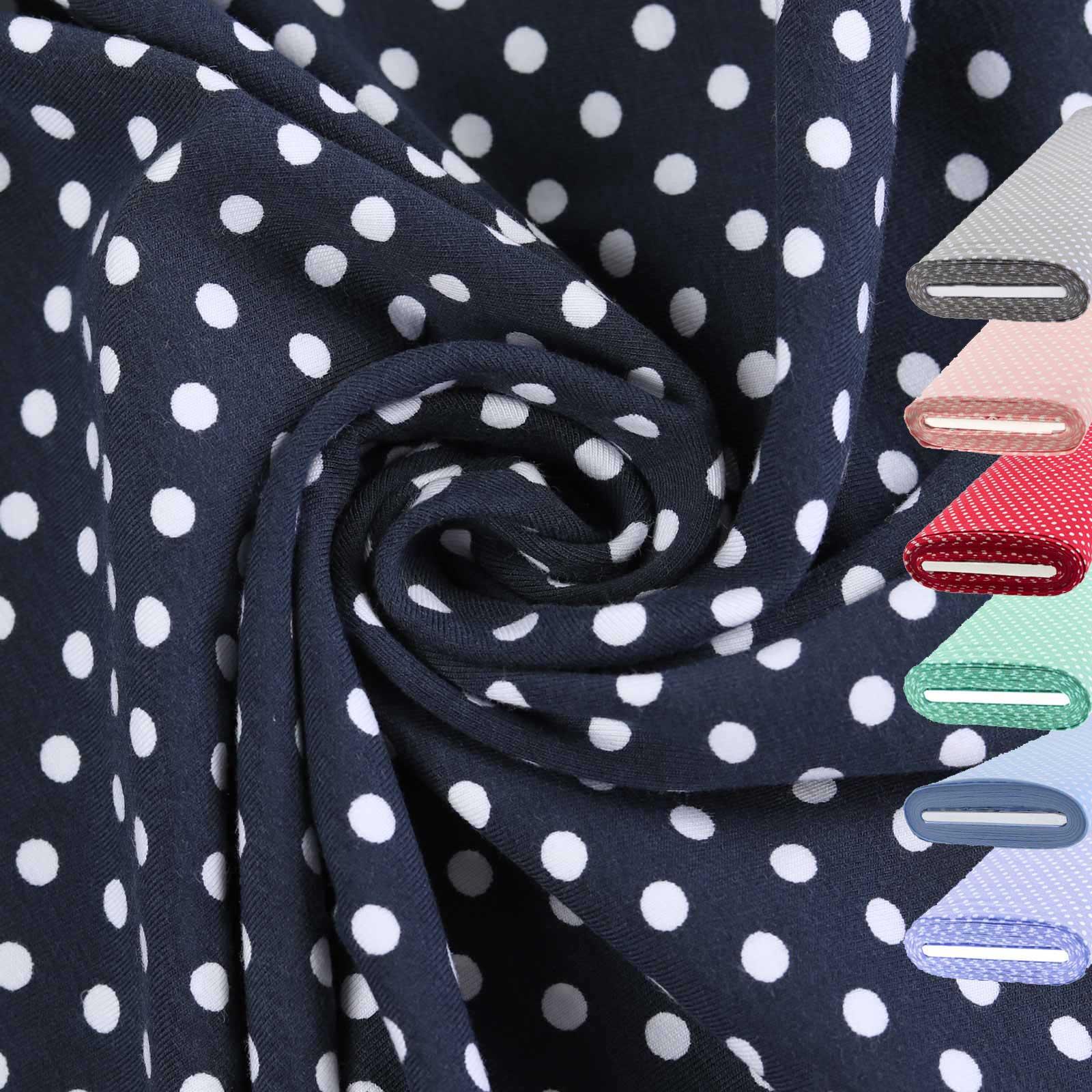 1m Meterware Jersey Stoff gemustert für Freizeitkleidung 150cm breit, Farbwahl – Bild 2