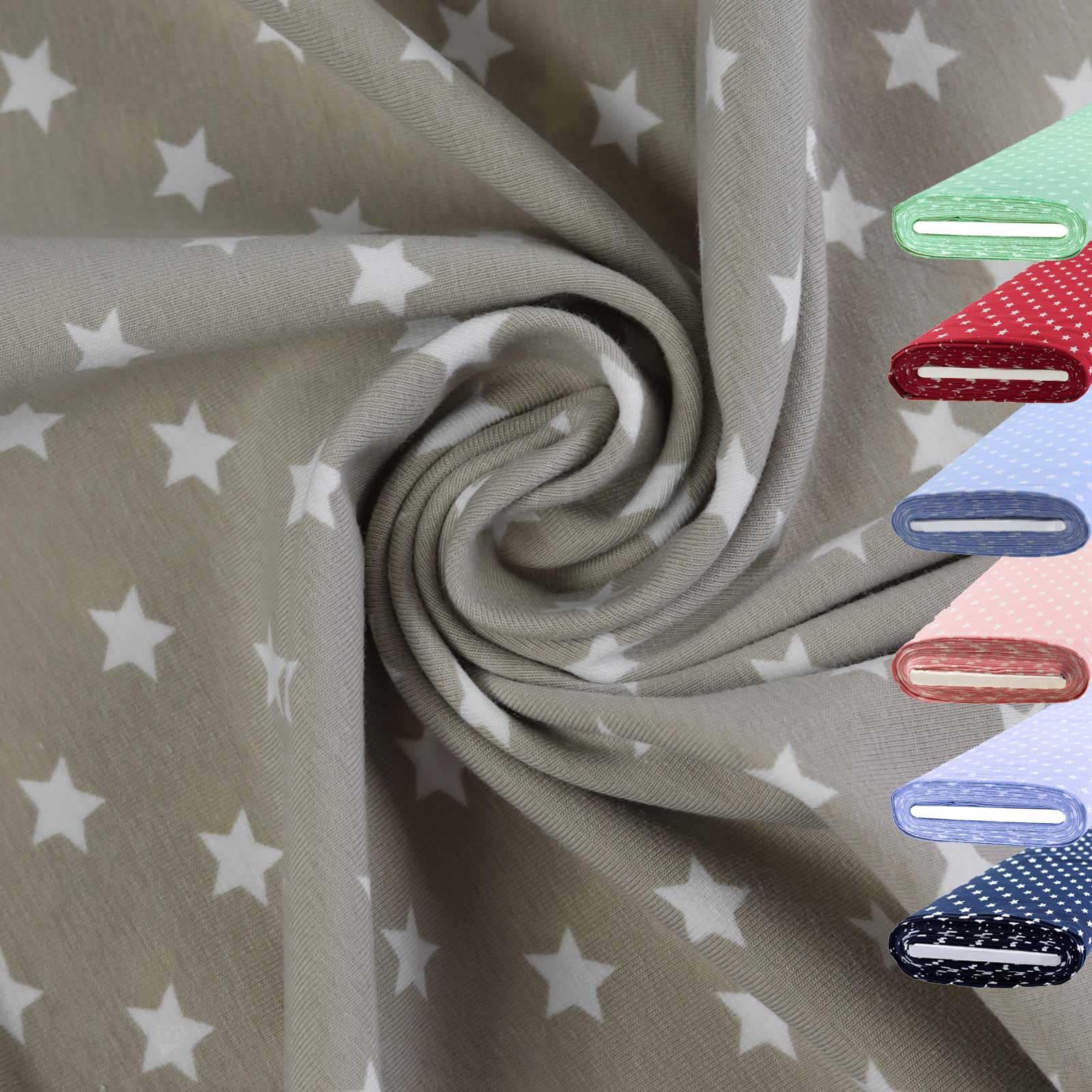 1m Meterware Jersey Stoff gemustert für Freizeitkleidung 150cm breit, Farbwahl – Bild 11
