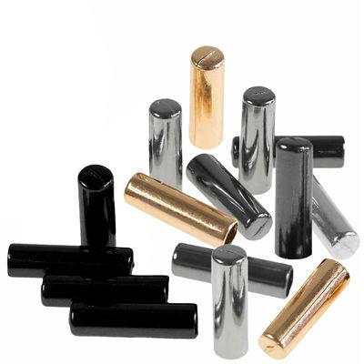 10 Kordelenden Metall Endstück 5x17mm für 4mm Kordel, Farbwahl - Schnur rund