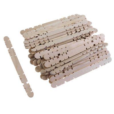 50 Holzspatel beidseitig Kerben 0,9x11,4cm natur Holz Bastelspatel