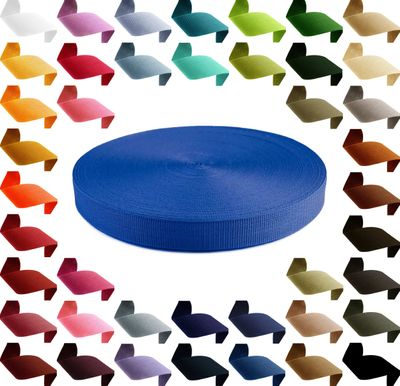 1m Gurtband, Polypropylen, 30mm breit, 1,3mm stark, 43 Farben wählbar – Bild 1