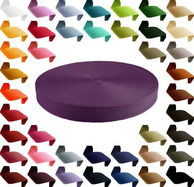 1m Gurtband, Polypropylen, 30mm breit, 1,3mm stark, 43 Farben wählbar – Bild 7