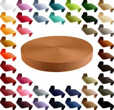 1m Gurtband, Polypropylen, 30mm breit, 1,3mm stark, 43 Farben wählbar – Bild 15