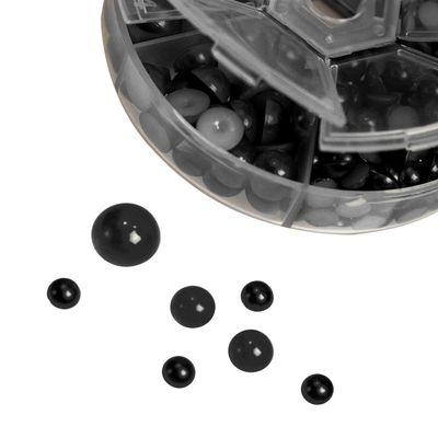1 Box / 690 Schmucksteine Cabochons Klebesteine Kuppel 4~12x2~6mm, Farbwahl – Bild 2