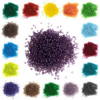 10g Rocailles Glasperlen rund 12/0 2x1,5mm, Bohrung 0,8mm, Farben Farbwahl