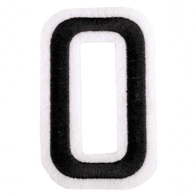 Zahl Aufbügler, 31-53x80mm, schwarz, Applikation Aufnäher Zahlen Ziffern – Bild 11