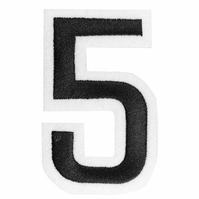 Zahl Aufbügler, 31-53x80mm, schwarz, Applikation Aufnäher Zahlen Ziffern – Bild 5