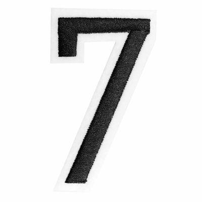 Zahl Aufbügler, 31-53x80mm, schwarz, Applikation Aufnäher Zahlen Ziffern – Bild 3