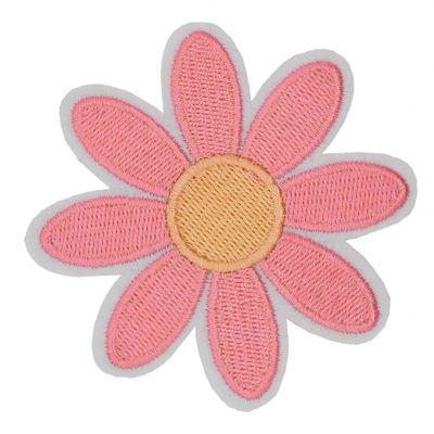 1 Aufbügler Blume Blüte Flowerpower Ø 83mm, Farbwahl - Applikation Aufnäher – Bild 7
