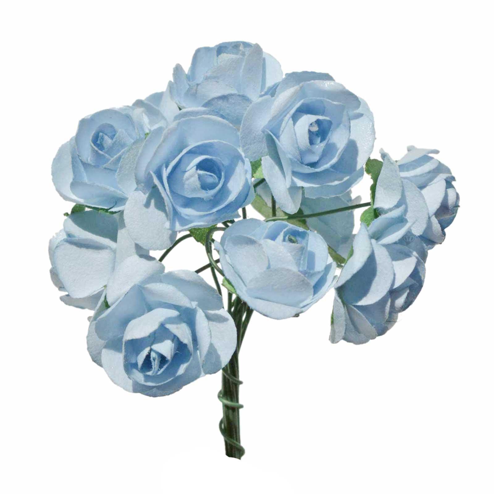 1 Bündel je 12 Rosen Röschen, Länge 7cm, Dekoration, Floristik, Farbe wählbar – Bild 3