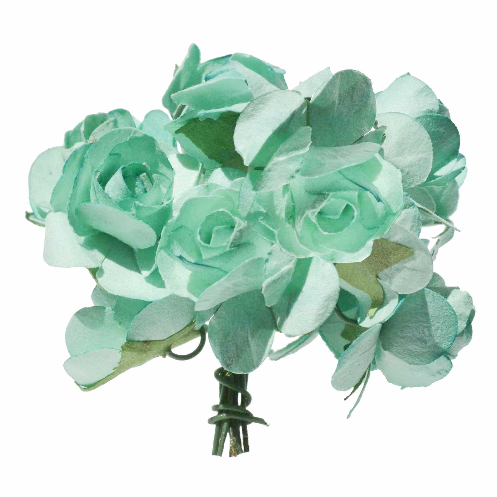 1 Bündel je 12 Rosen Röschen, Länge 7cm, Dekoration, Floristik, Farbe wählbar – Bild 5