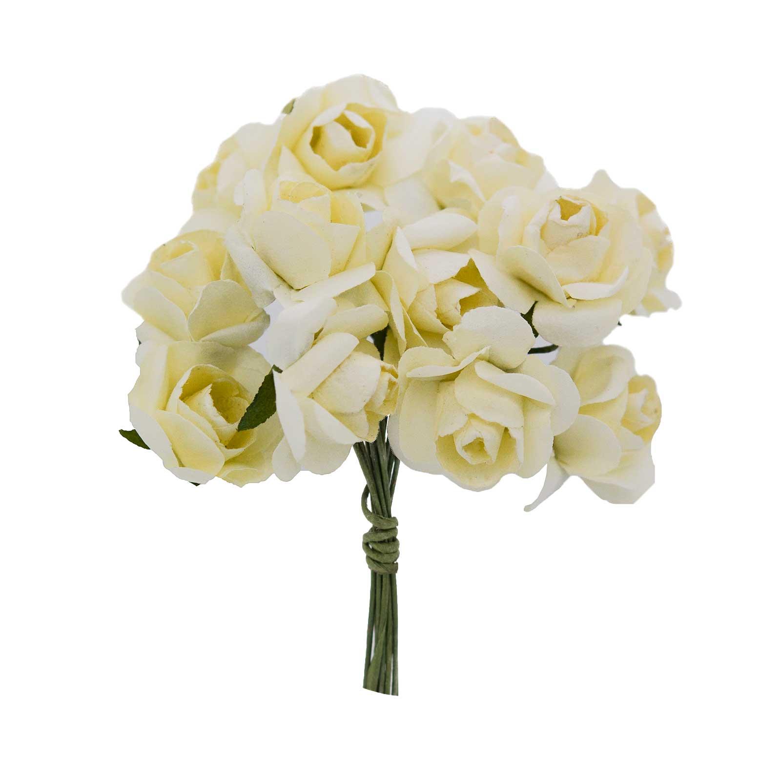 1 Bündel je 12 Rosen Röschen, Länge 7cm, Dekoration, Floristik, Farbe wählbar – Bild 6