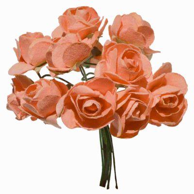 1 Bündel je 12 Rosen Röschen, Länge 7cm, Dekoration, Floristik, Farbe wählbar – Bild 10