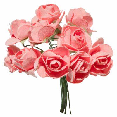 1 Bündel je 12 Rosen Röschen, Länge 7cm, Dekoration, Floristik, Farbe wählbar – Bild 18