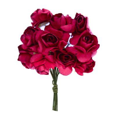 1 Bündel je 12 Rosen Röschen, Länge 7cm, Dekoration, Floristik, Farbe wählbar – Bild 17