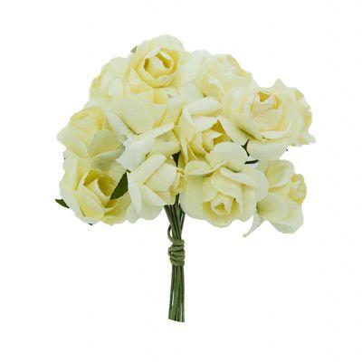 1 Bündel je 12 Rosen Röschen, Länge 7cm, Dekoration, Floristik, Farbe wählbar – Bild 12