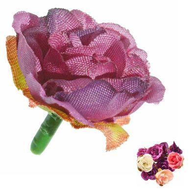 5 x Deko Rose / Rosenblüte / Rosenkopf ca. 2,5 cm, verschiedene Farben Farbwahl – Bild 4