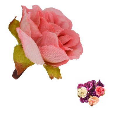 5 x Deko Rose / Rosenblüte / Rosenkopf ca. 2,5 cm, verschiedene Farben Farbwahl – Bild 10